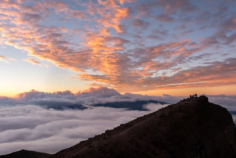 Lever de soleil depuis le Piton des Neiges (3070m)