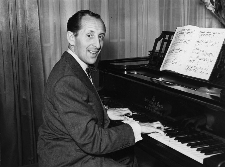 Vladimir Horowitz playing the piano