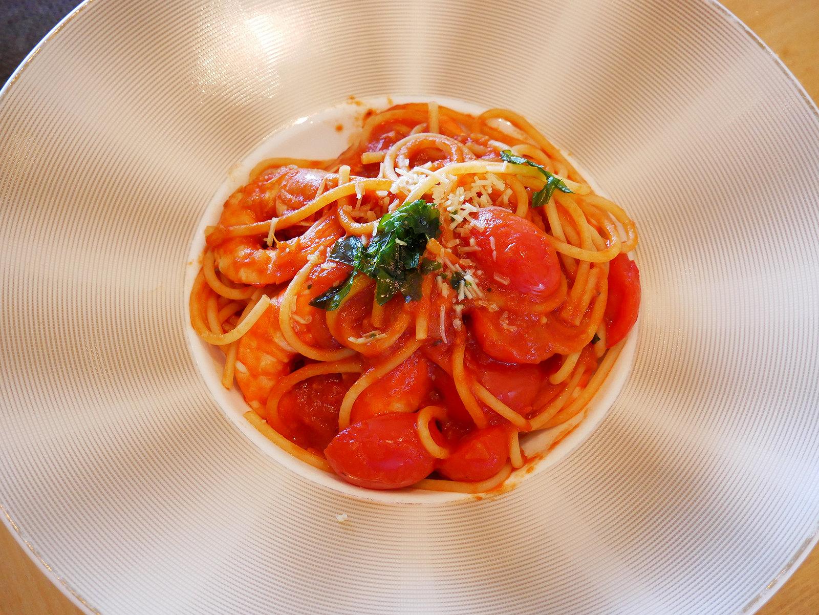 礁溪老爺酒店 醴泉大廳酒吧 茄汁鮮蝦義大利麵