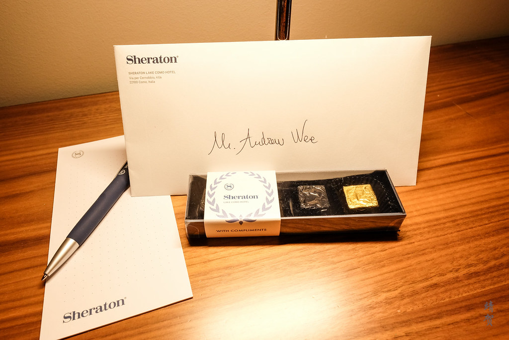 Welcome letter and chocolates