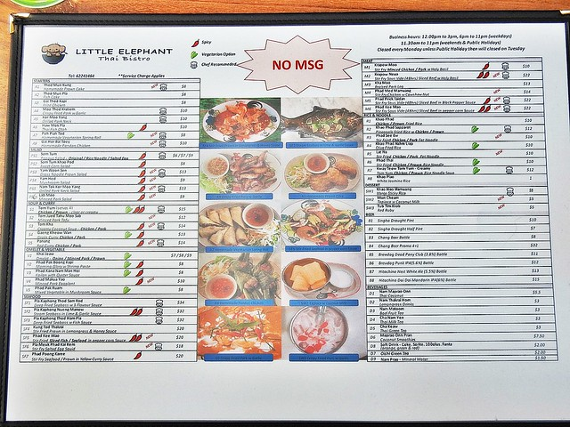Little Elephant Thai Bistro Menu