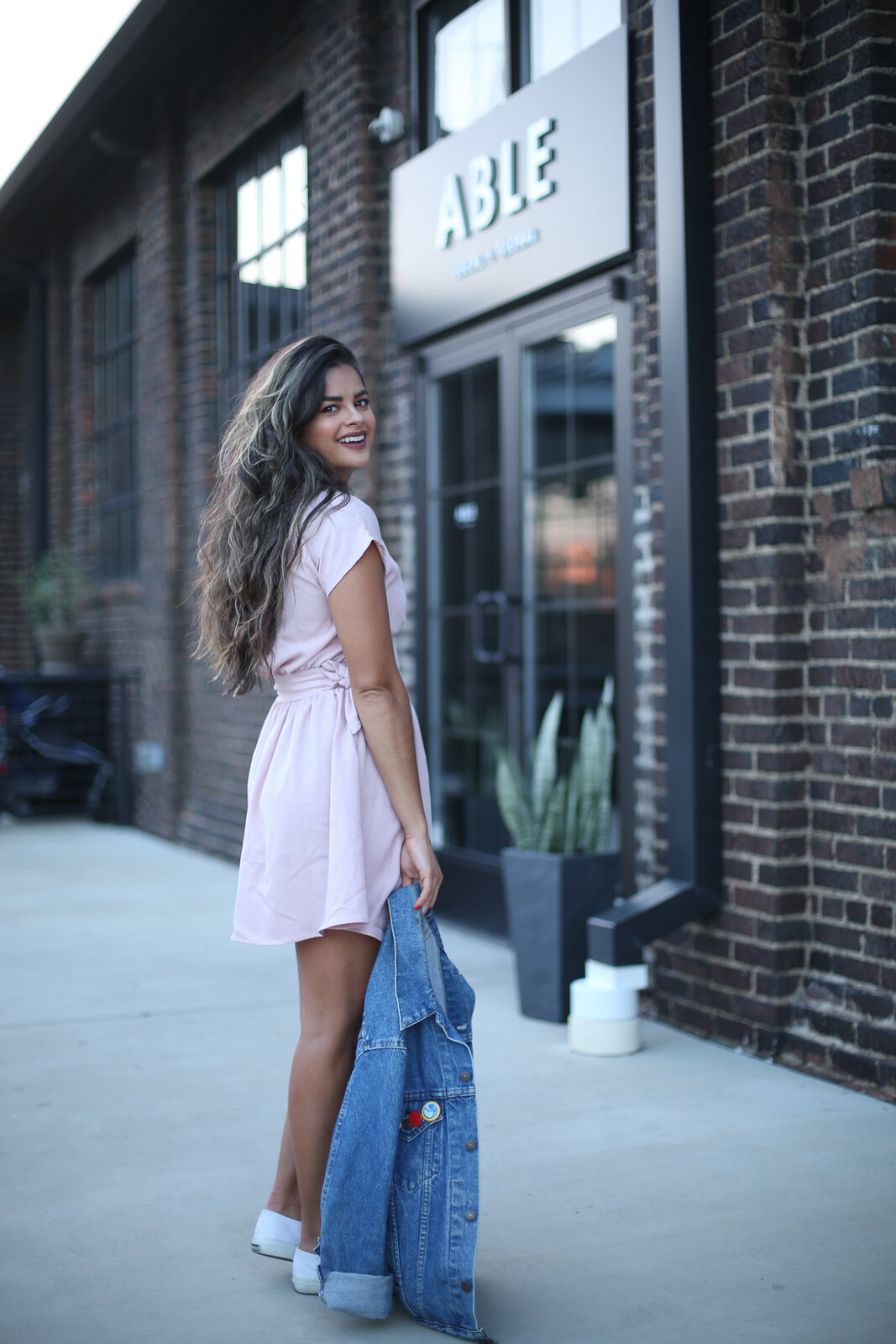 Priya the Blog, Nashville fashion blog, Nashville fashion blogger, Nashville style blog, Nashville style blogger, Superga trainers, white tennis shoes, blush linen Zara dress, oversized vintage jean jacket, vintage jean jacket, vintage jean jacket for Summer,