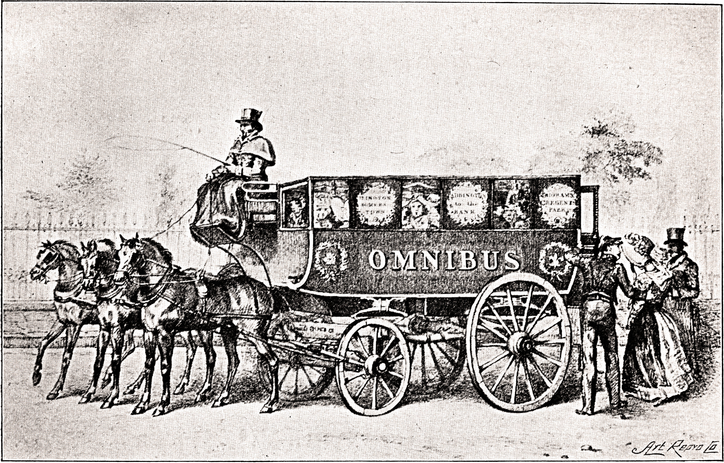 George Shillibeer's first London omnibus, 1829.
