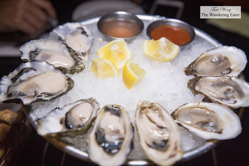 Three different types of oysters - St. Simon (New Brunswick, Canada), Goose Point (Willapa Bay, WA), and Fanny Bay (Union Bay, British Columbia)