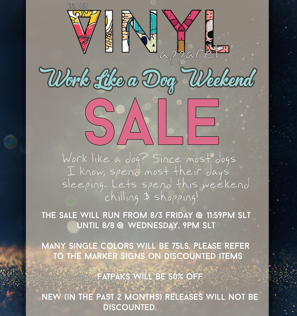 Vinyl Work Like a Dog SALE