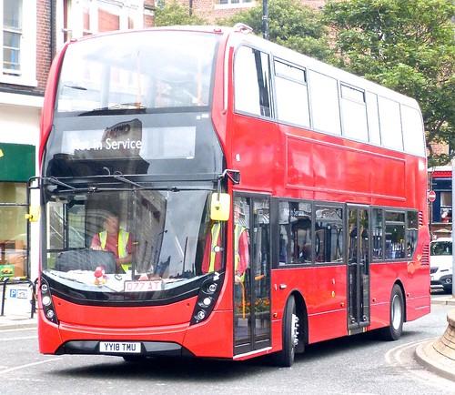 YY18 TMU 'Stagecoach East London' No. 11011. Alexander Dennis Ltd. E40D / Alexander Dennis Ltd. Enviro 400MMC /1 on Dennis Basford's railsroadsrunways.blogspot.co.uk'
