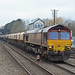 66008 6L39 Mountsorrel Trowse at Melton Mowbray loco now with gbrf as 66780