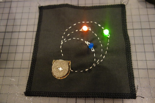 embroidered led circuit