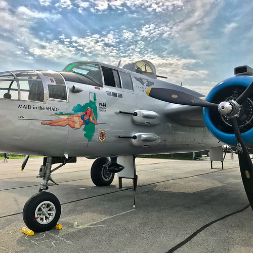 WWII B-25 Mitchell Bomber Maid in the Shade