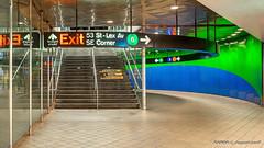 Manhattan, NY: Lexington Avenue & 53rd Street subway station (Lines 6, E & M)