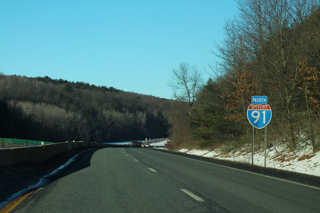 I-91 North Sign - Near Exit 22