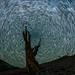 Perseid Metors and Star Trails by Jeffrey Sullivan