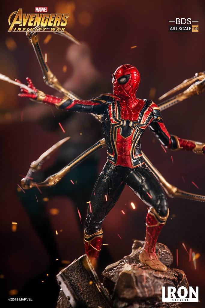 Iron Studios Battle Diorama 系列《復仇者聯盟3:無限之戰》鋼鐵蜘蛛 Iron Spider-Man 1/10 比例決鬥場景雕像作品