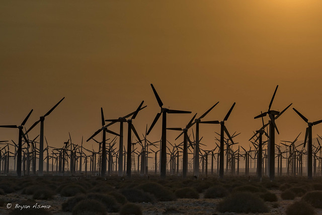 Sunset of WindMill @ Cabazon (near Palm Springs)