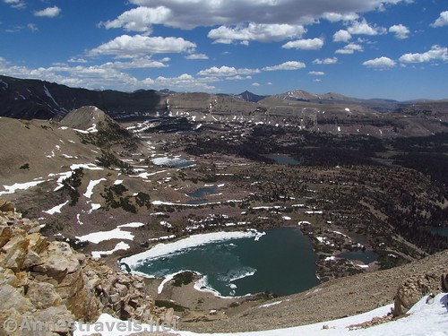 Naturalist Basin from the slopes of Mount Agassiz in the Uinta Mountains of Utah
