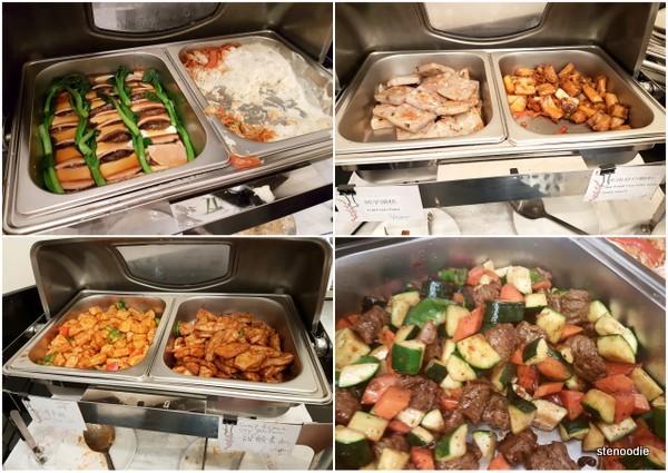 Blossom Vegetarian hot buffet selections