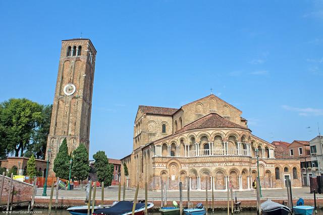Basilica dei Santi Maria e Donato vista da Fondamenta Antonio Maschio