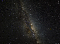 Our Milky Way Galaxy with Mars visible