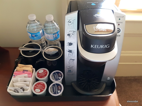 coffee machine and water