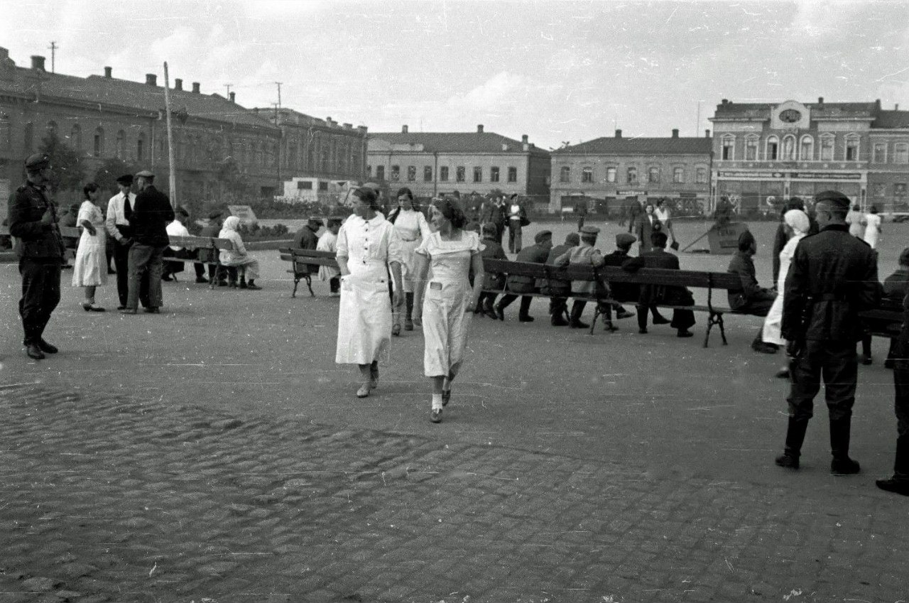 1941.Вид на площадь Кирова в оккупированном Кировограде