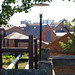 View east from Chester citywalls by the canal, 2018 Jul 08