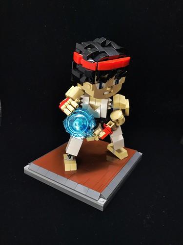Hadouken(はどうけん)  Ryu(リュウ)  #lego #moc #legophotography #legocreation  #legogram #legolife #instatoy #legobuilder #arcade #streetfighter #ryu