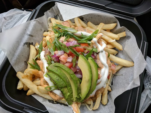 Dirty smothered fries