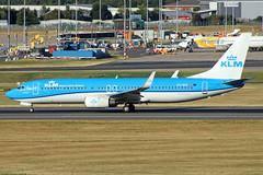 KLM Boeing 737-8K2 PH-BXZ BHX 10/08/18