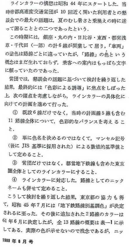 東京地下鉄のラインカラー(色) (2)