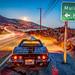1969 Stingray Corvette PCH Fine Art Malibu Landscape Seascape HDR Photography! Mulholland Highway Classic Black Convertible Corvette Malibu Moonrise High Dynamic Range Long Exposure Night Elliot McGucken Fine Art! Nikon D800 E 14-24mm F2.8 Wide Angle Zoom by 45SURF Hero's Odyssey Mythology Landscapes & Godde