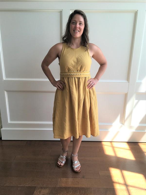 A Summer Dress:  McCall's 7774 in Yellow Linen