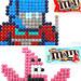 Cartoon Candy Mosaics made of M&Ms