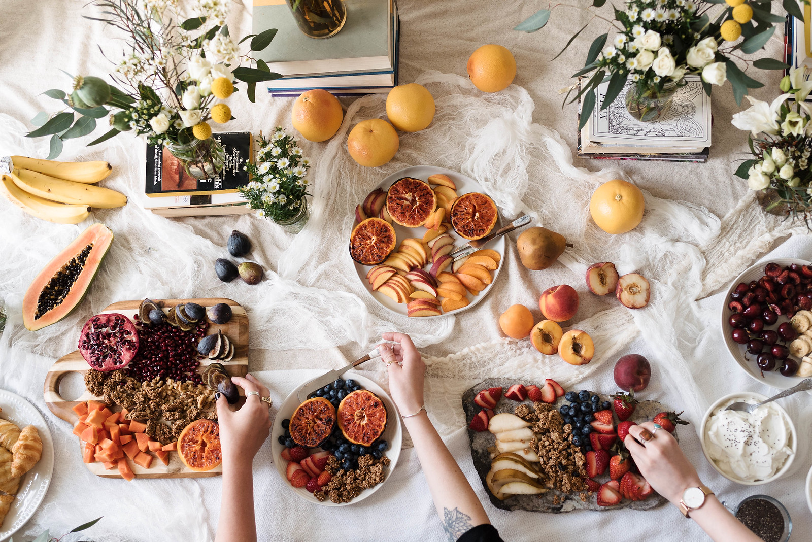 Yogurt Parfait Bar and Broiled Grapefruit Recipe on juliettelaura.blogspot.com