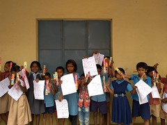 Children with their Health Cards by @tcfindia
