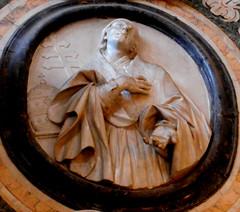 Dominican pope: Benedict XI - marble tondo (1748-1754) by Giovan Battista Massotti and sons Carmine and Matteo - Rosario or SantAnna di Palazzo Church in Naples