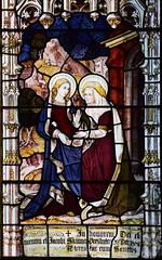 Blessed Virgin and St Elizabeth at the Visitation (Burlison & Grylls, 1880s)