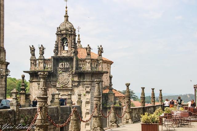 Church of San Fructuoso - view from Praza do Obradoiro