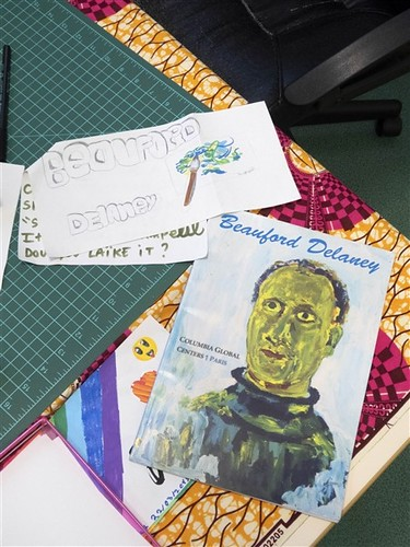 Beauford Delaney catalog and street art by Iris. From American Elementary School Kids to Meet Their French Video Pals in Paris