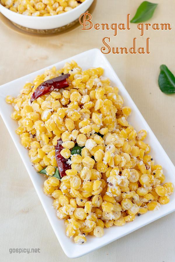Kadalai Paruppu Sundal Recipe by GoSpicy.net/