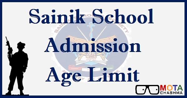 sainik school admission age limit