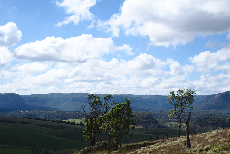 View over Blue Mountains escarpment, Kanimbla Valley