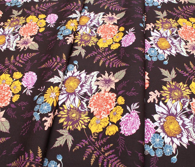Art Gallery Fabrics Autumn Vibes Floral Glow Cocoa