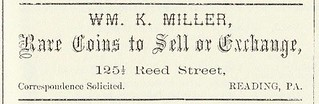 WILLIAM MILLER ad Sept 1879