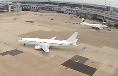 GetJet boeing 737-400 LY-MGC op for TunisAir Dusseldorf Airport webcam