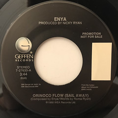 ENYA:ORINOCO FLOW(SAIL AWAY)(LABEL SIDE-B)