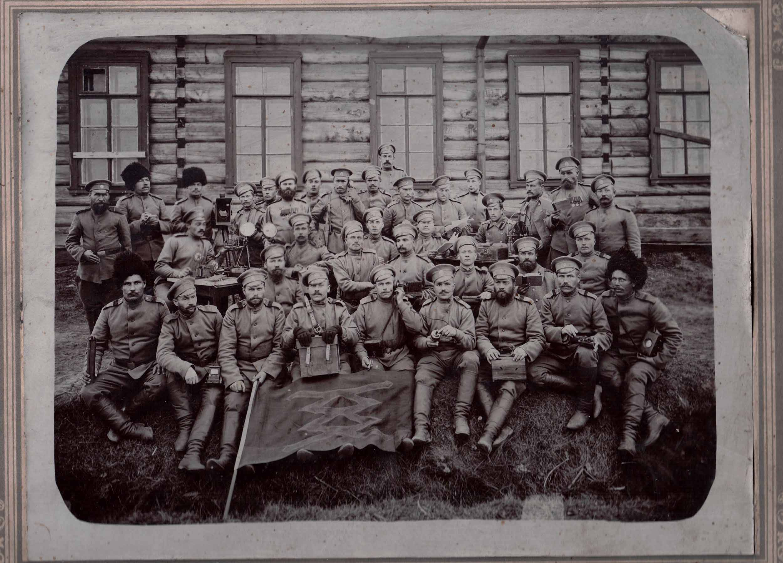 Рота связистов. 1914