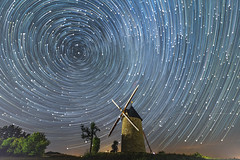 Star Trails over the old mill 2