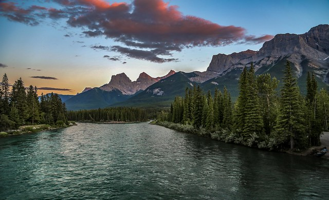 Bow River View, Canmore, Alberta.