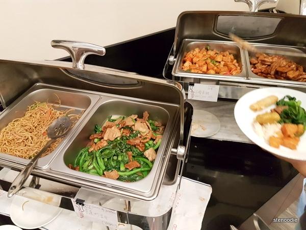 Blossom Vegetarian hot buffet selection