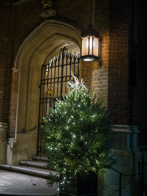 Middle Temple hall at Christmas time